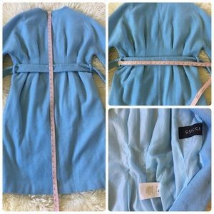 Gucci Jackets & Coats - Gucci Wool Baby Blue Structured Belted Coat 38 S